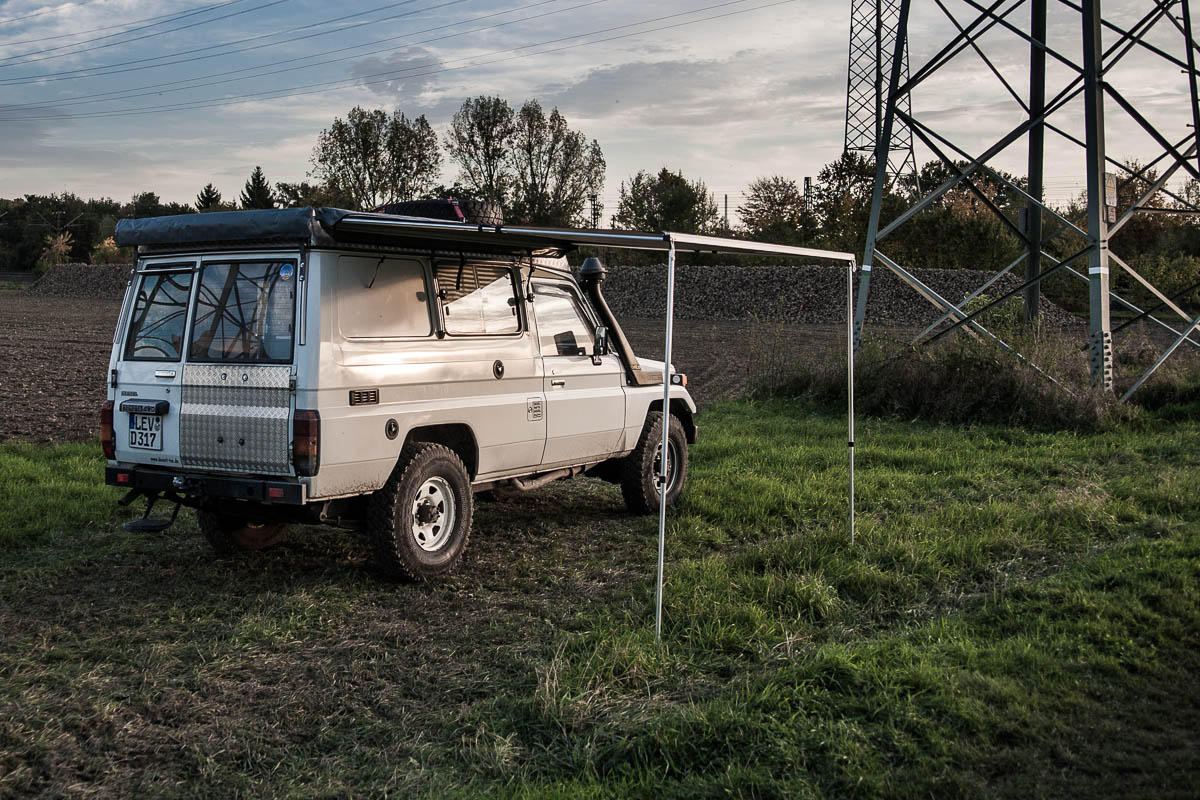 schattenspender markiese travel camping offroad roadbook